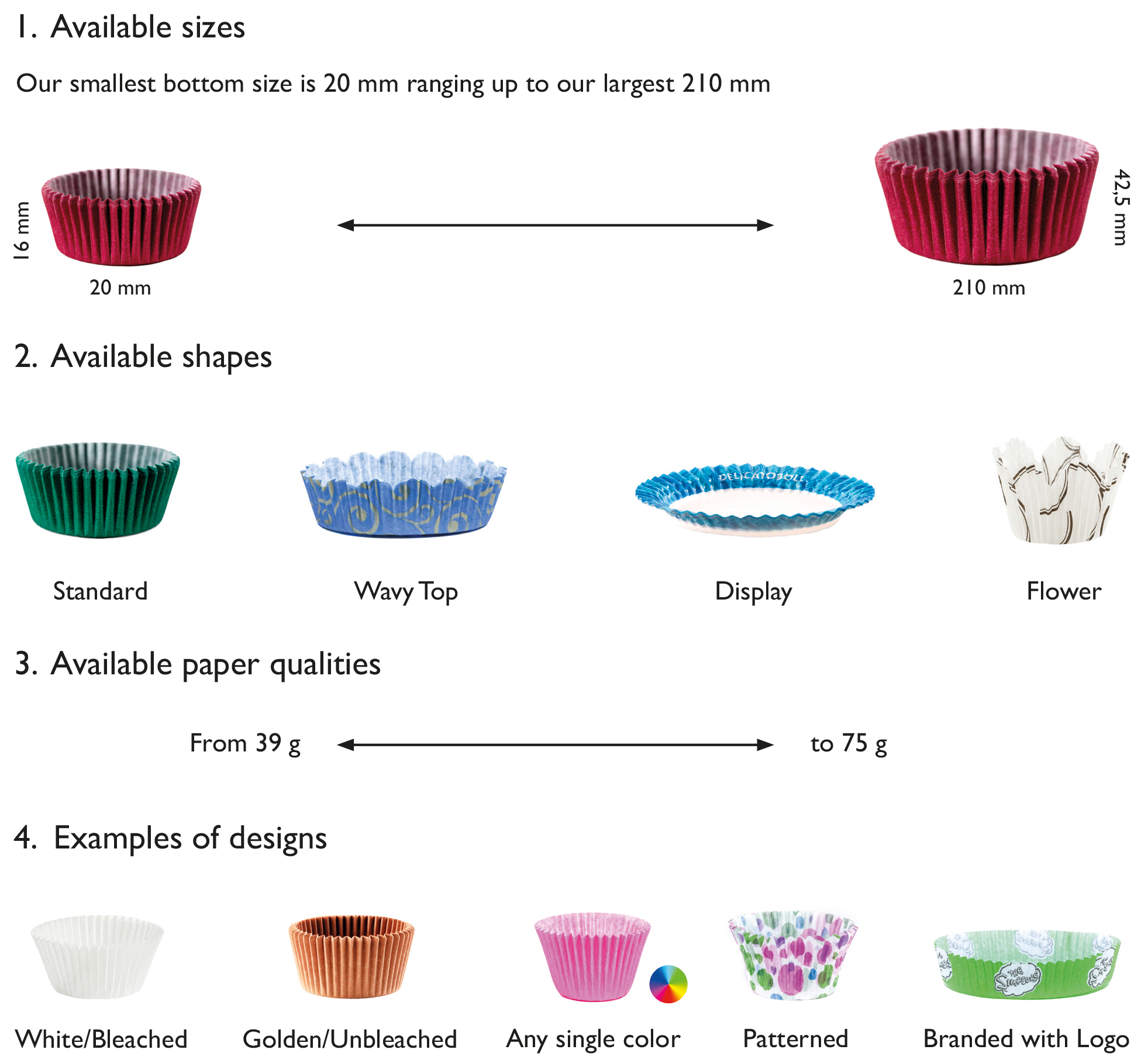 Paper Baking Cups Tielman Group